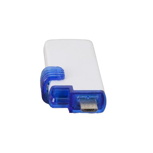 Lexar JumpDrive 64GB USB/MicroUSB 3.0 Blue and White Flash Memory Drive PC Storage