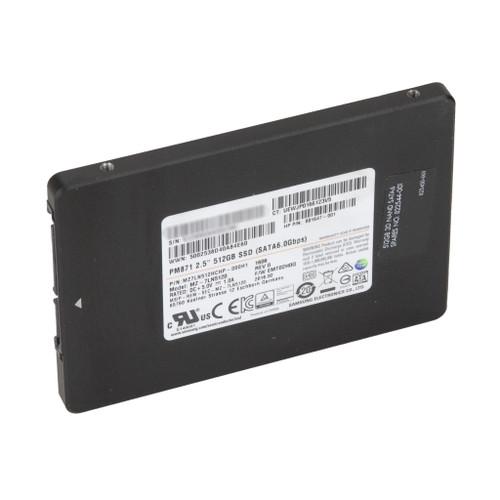 """HP 801647-001 512GB SATA 6Gb/s 2.5"""" Samsung MZ-7LN5120 PM871 Series SSD"""