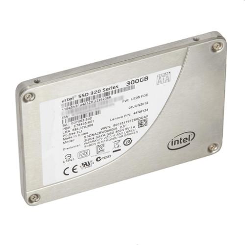 """Intel SSDSA2BW300G3L 320 Series 300GB SATA 3Gb/s 2.5"""" SSD Lenovo 45N8124 (0 Power-on Hours)"""