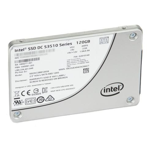 """Intel SSDSC2BB120G6 S3510 Series 120GB SATA III 2.5"""" SSD (At/Under 100 Power-on Hours)"""