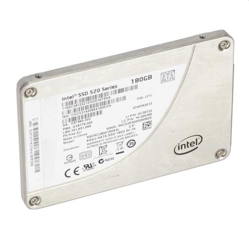 """Intel 520 Series SSDSC2BW180A3L 180GB SATA 6Gb/s 2.5"""" SSD Torn Label"""