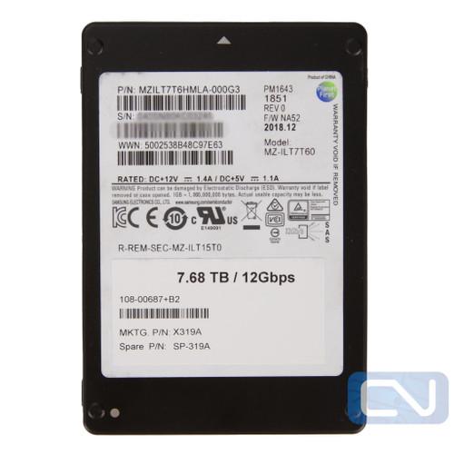 Samsung 7.68TB PM1643 12Gbps