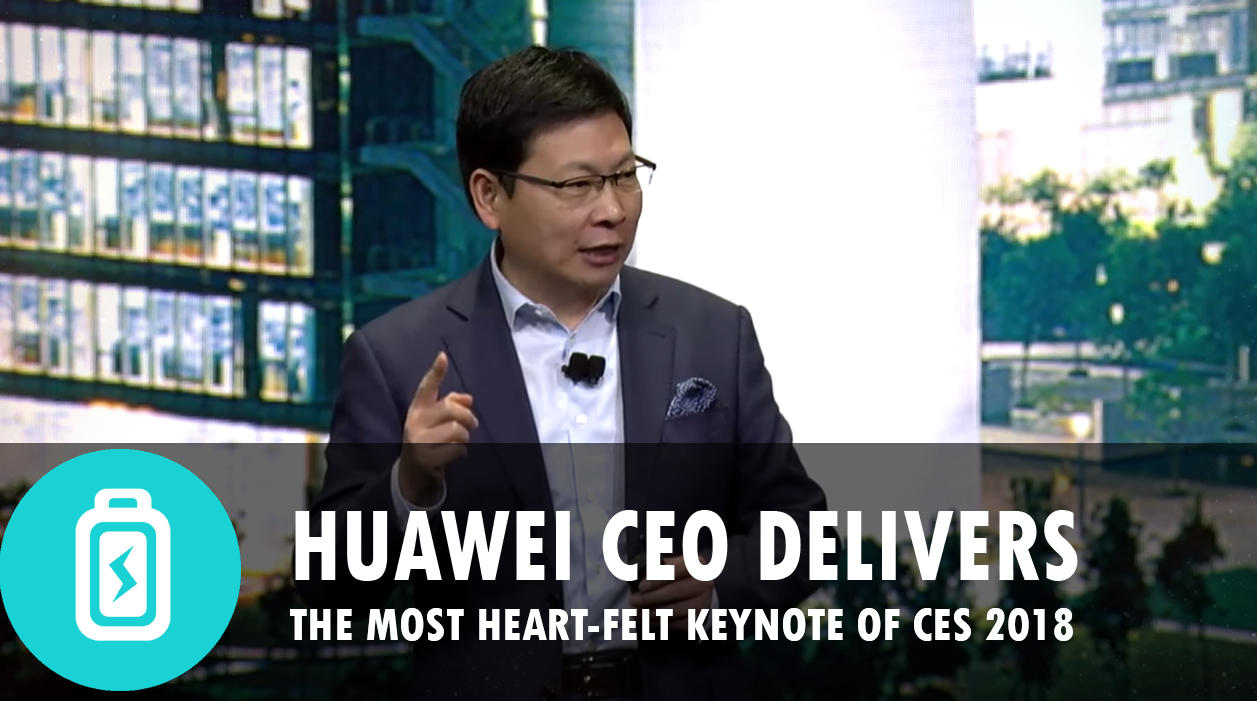 Huawei's CEO delivers an unscripted, heartfelt letter to his consumers (CES 2018)