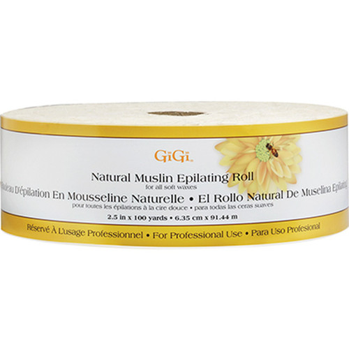 Natural Muslin Epilating Roll, 100 yd