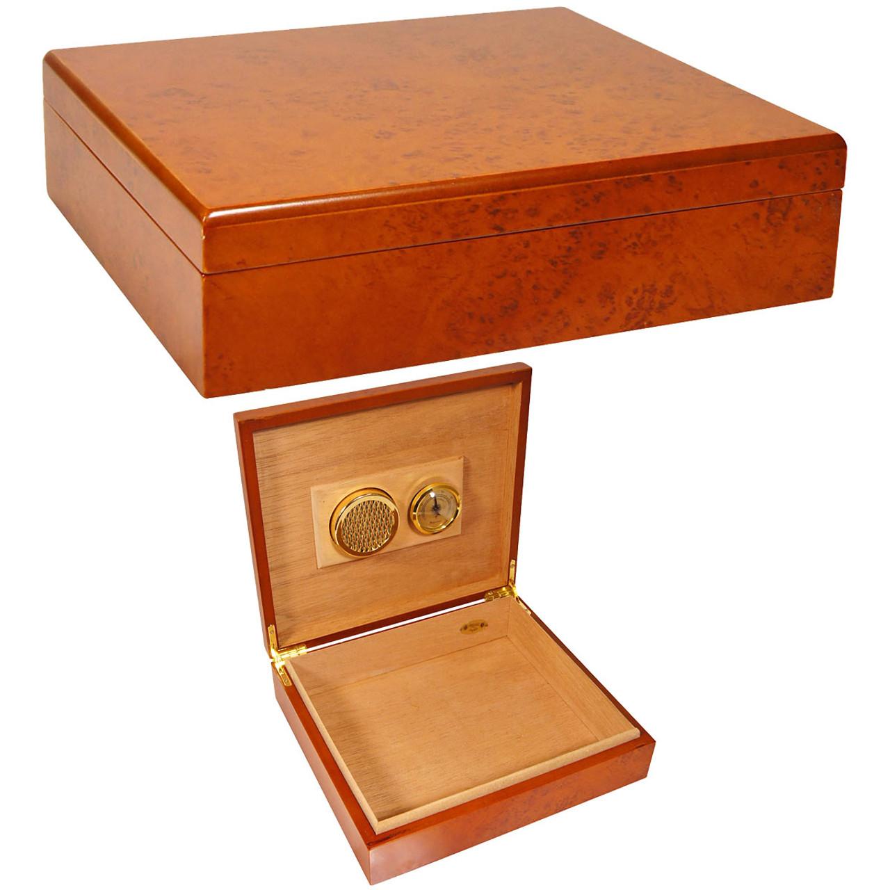No Cigars Included Hi-Gloss Set of 2 Camacho Connecticut Empty Cigar Boxes