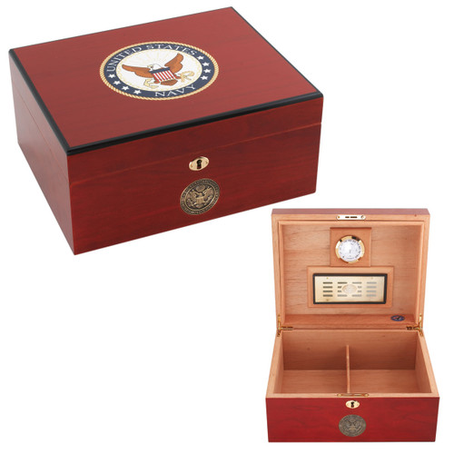 Navy Humidors American Emblems Navy Two for 50 Cigars