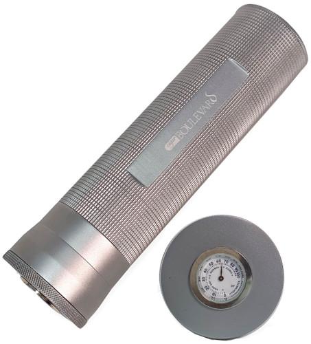 Cigar Boulevard Cigar Travel Humidor Aluminium Tube with Hygrometer and Humidifier 7 Cigar Capacity