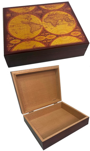 Small Two World Cigar Humidor