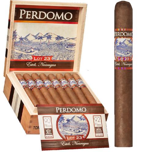Perdomo LOT 23 Natural Sun Grown TORO 6 X 50 Box of 24 Cigars