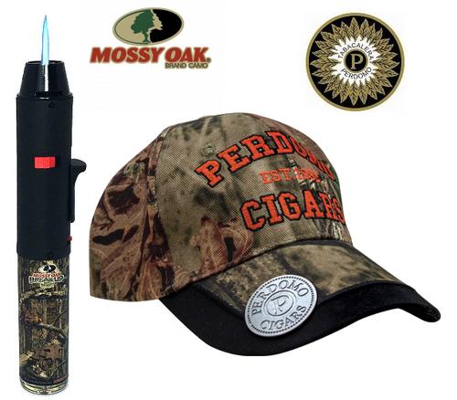"""MOSSY OAK Pack (EAGLE TORCH Turbo Single Jet 7"""" Pen & PERDOMO Cap)"""