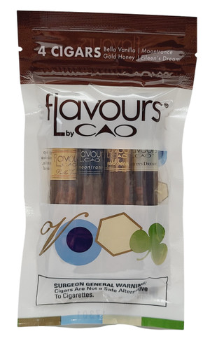 CAO FLAVOUR Sampler II. 4 Different Flavors in 4 x 38 Cigars