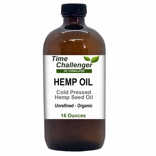 Organic - Unrefined Hemp Oil 16 oz