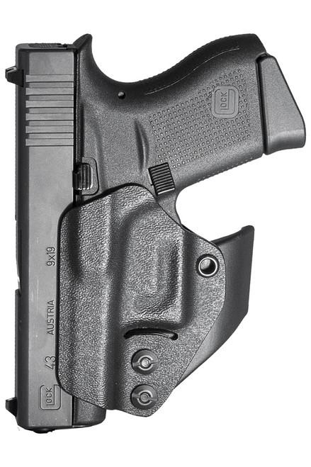Glock 42, 43, 43X, 43XRail, 48, 48Rail - Minimalist AIWB Holster (Ambidextrous)