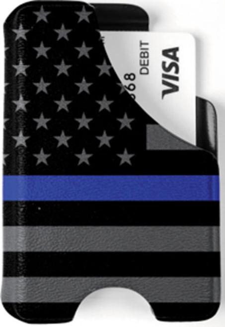 Minimalist Wallet - Blue Line American Flag