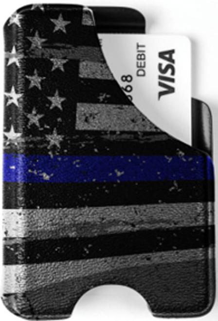 Minimalist Wallet - Blue Line American Flag 3
