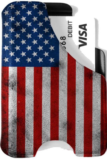 Minimalist Wallet - American Flag Vintage