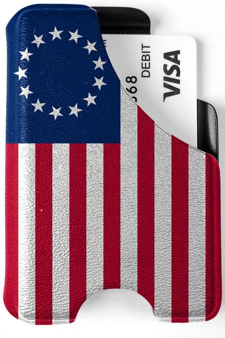 Minimalist Wallet - Betsy Ross Flag