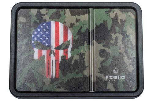 American Flag Punisher Skull on Multicam
