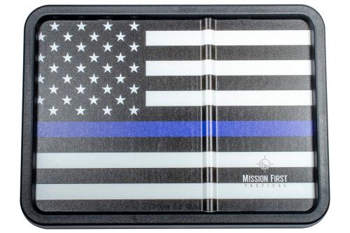 Blue Line 2 American Flag Dump Tray