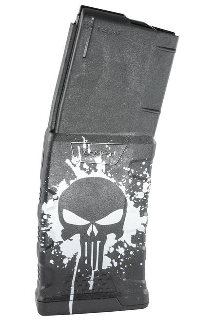 Punisher Skull Splatter White - EXD Graphic Mag