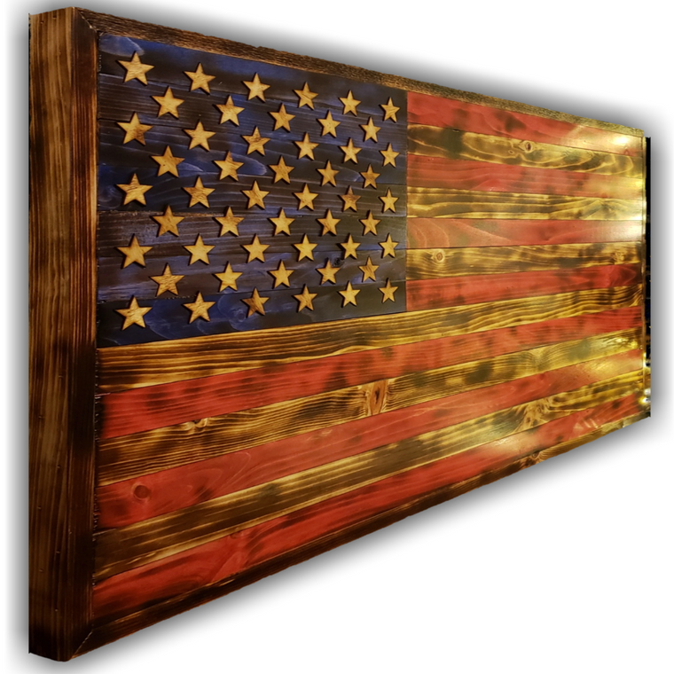 Large Wooden American Flag, Traditional