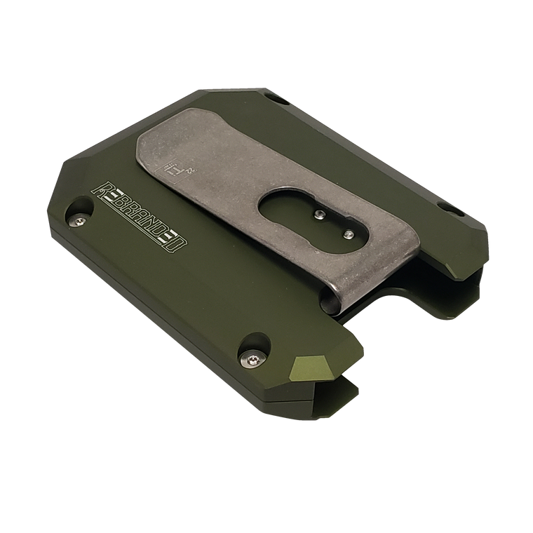 OD Green CG2 Aluminum Wallet w/ Titanium Money Clip