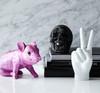 "Interior Illusions Plus Pink Chrome Piggy Standing - 9.5"" long"