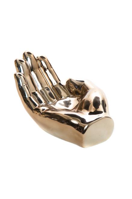"Interior Illusions Plus Bronze Hand Tray Decoration - 7.5"" long"
