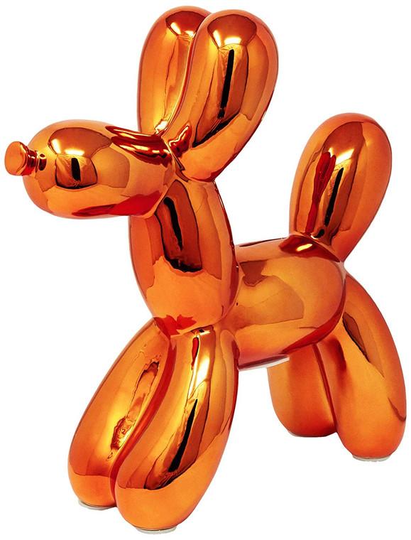 "Interior Illusions Plus Copper Balloon Dog Bank - 12"" tall"