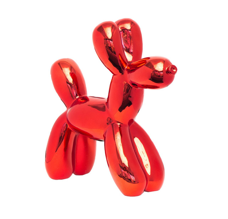 "Interior Illusions Plus Red Balloon Dog Bank - 12"" tall"