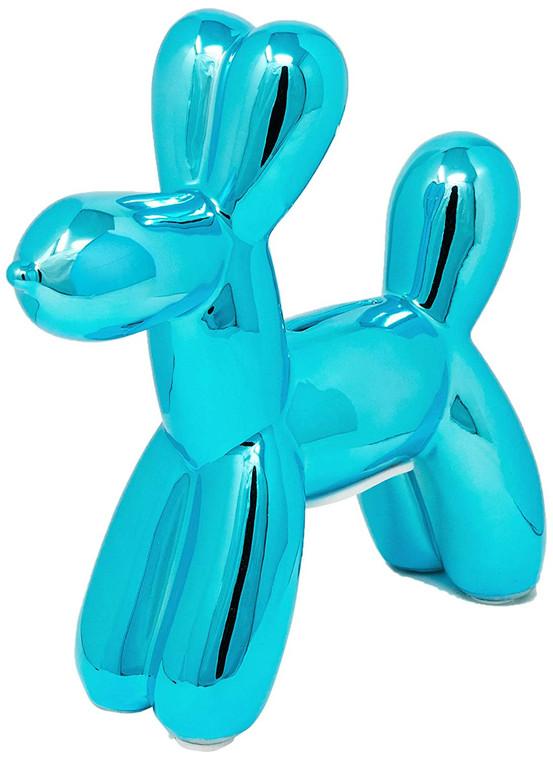 "Interior Illusions Plus Blue Mini Balloon Dog Bank - 7.5"" tall"