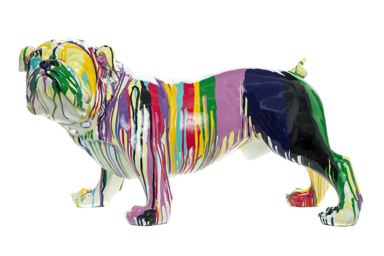 "Interior Illusions Plus Graffiti Bulldog - 30"" long"