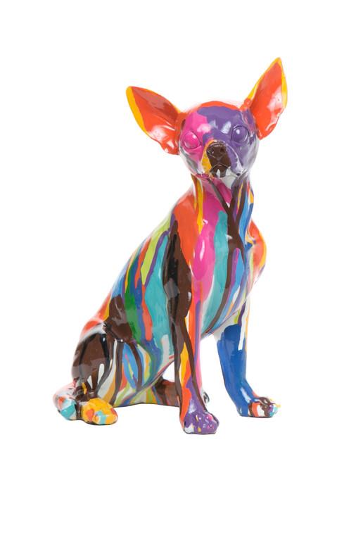 "Interior Illusions Plus Graffiti Chihuahua - 10"" tall"