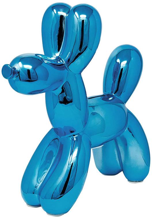 """Interior Illusions Plus Royal Blue Balloon Dog Bank - 12"""" tall"""