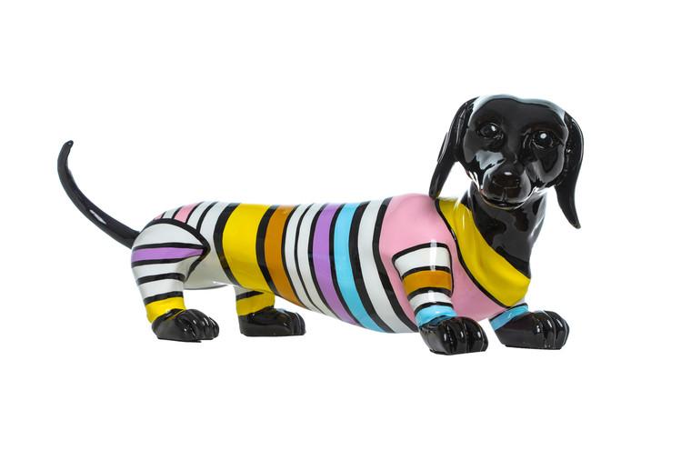 "Interior Illusions Plus stripe Dachshund Dog -  19"" long"