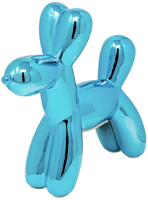 "Interior Illusions Plus Royal Blue Mini Balloon Dog Bank 7.5"" tall"