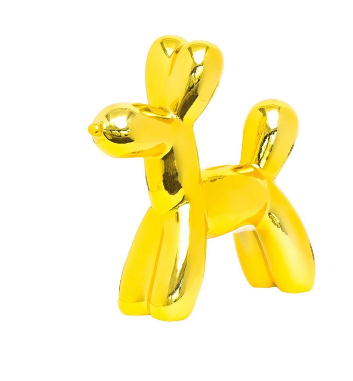 "Interior Illusions Plus Yellow Mini Balloon Dog Bank 7.5"" tall"