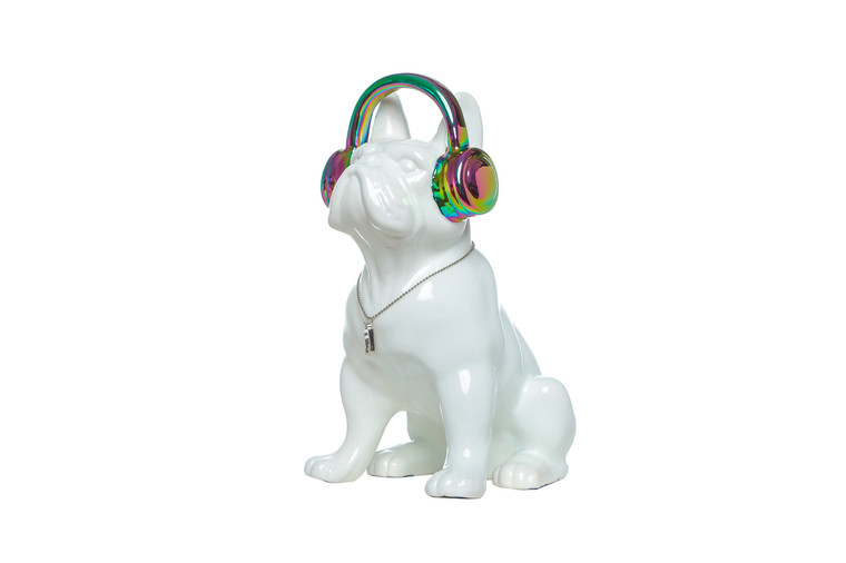"Interior Illusions Plus Iridescent Headphone Dog Bank - 10"" tall"