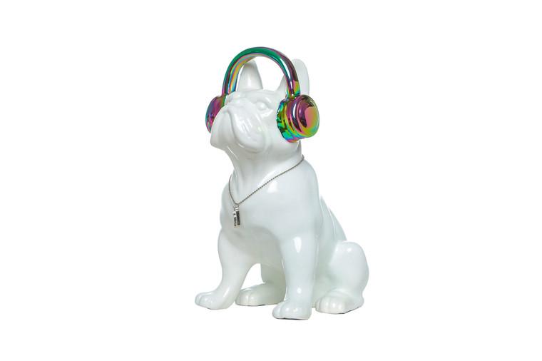 "Interior Illusions Plus Iridescent Headphone Dog Bank - 10"" tall"