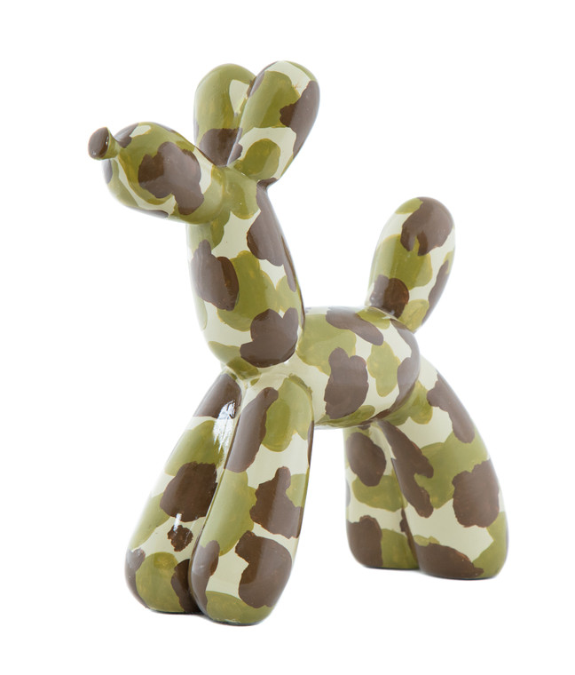 "Interior Illusions Plus Camouflage Balloon Dog 12"" tall"
