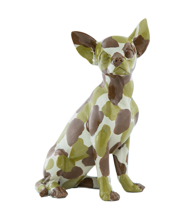 "Interior Illusions Plus Camouflage Chihuahua 10"" tall"