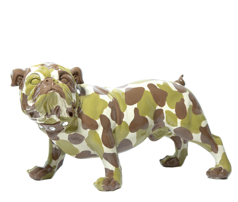 "Interior Illusions Plus Camouflage Bulldog - 30"" long"