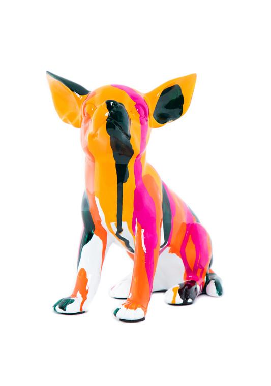 "Interior Illusions Plus Sitting Chihuahua Splatter Art Dog - 7"" tall"