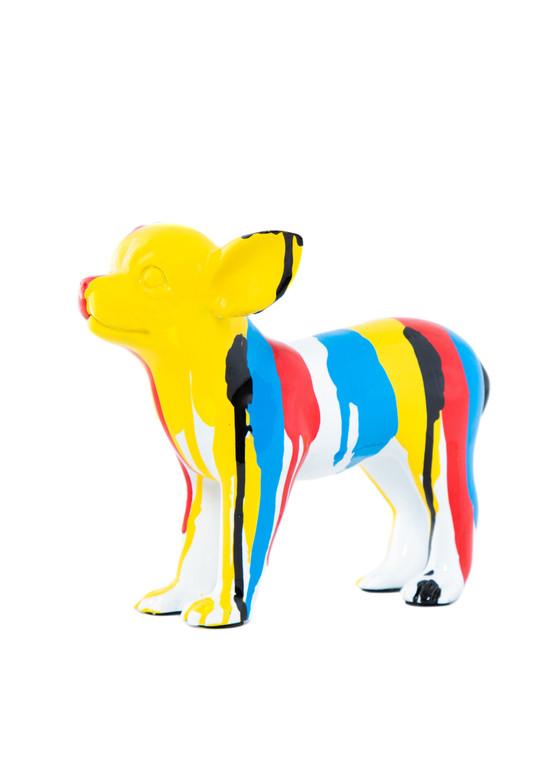 "Interior Illusions Plus Standing Chihuahua Splatter Art Dog - 8.5"" long"