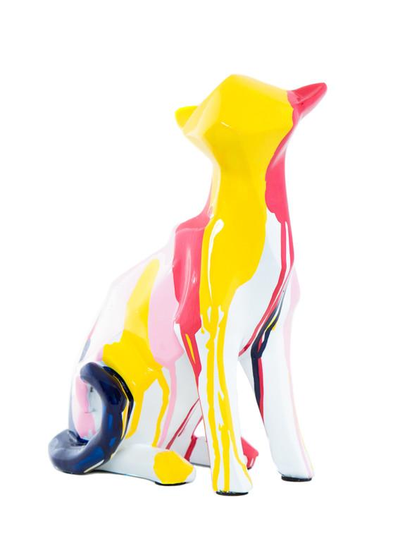 "Interior Illusions Plus Cat Splatter Art - 8.25"" tall"
