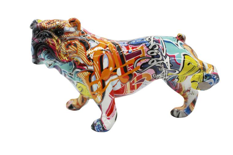 "Interior Illusions Plus Street Art  Bull Dog with Leg Up - 10.5"" long"