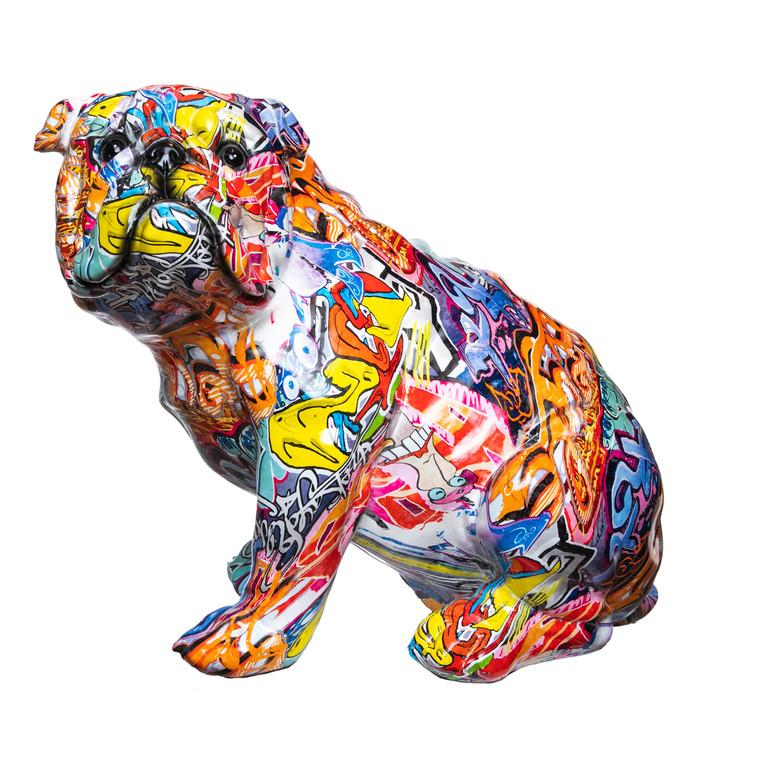 "Interior Illusions Plus Street Art Sitting Dog - 15"" tall"
