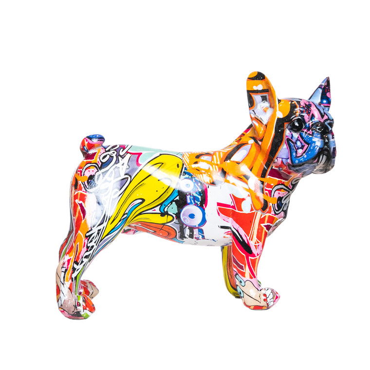 "Interior Illusions Plus Street Art Bulldog Ears Up Dog - 9"" long"