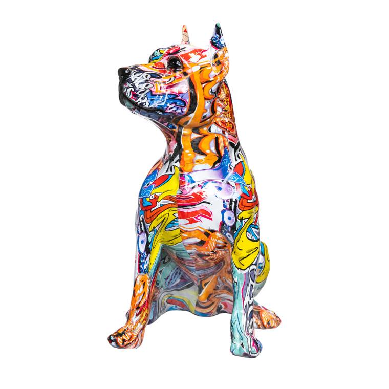 "Interior Illusions Plus Pitbull Street Art Dog - 16"" tall"