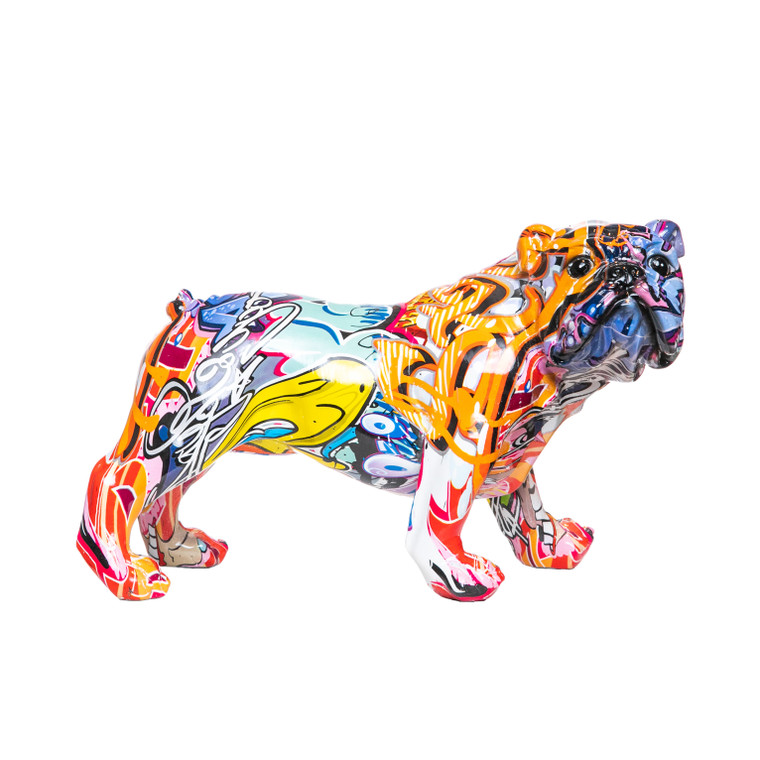 "Interior Illusions Plus Street Art Bulldog Standing  - 11"" long"